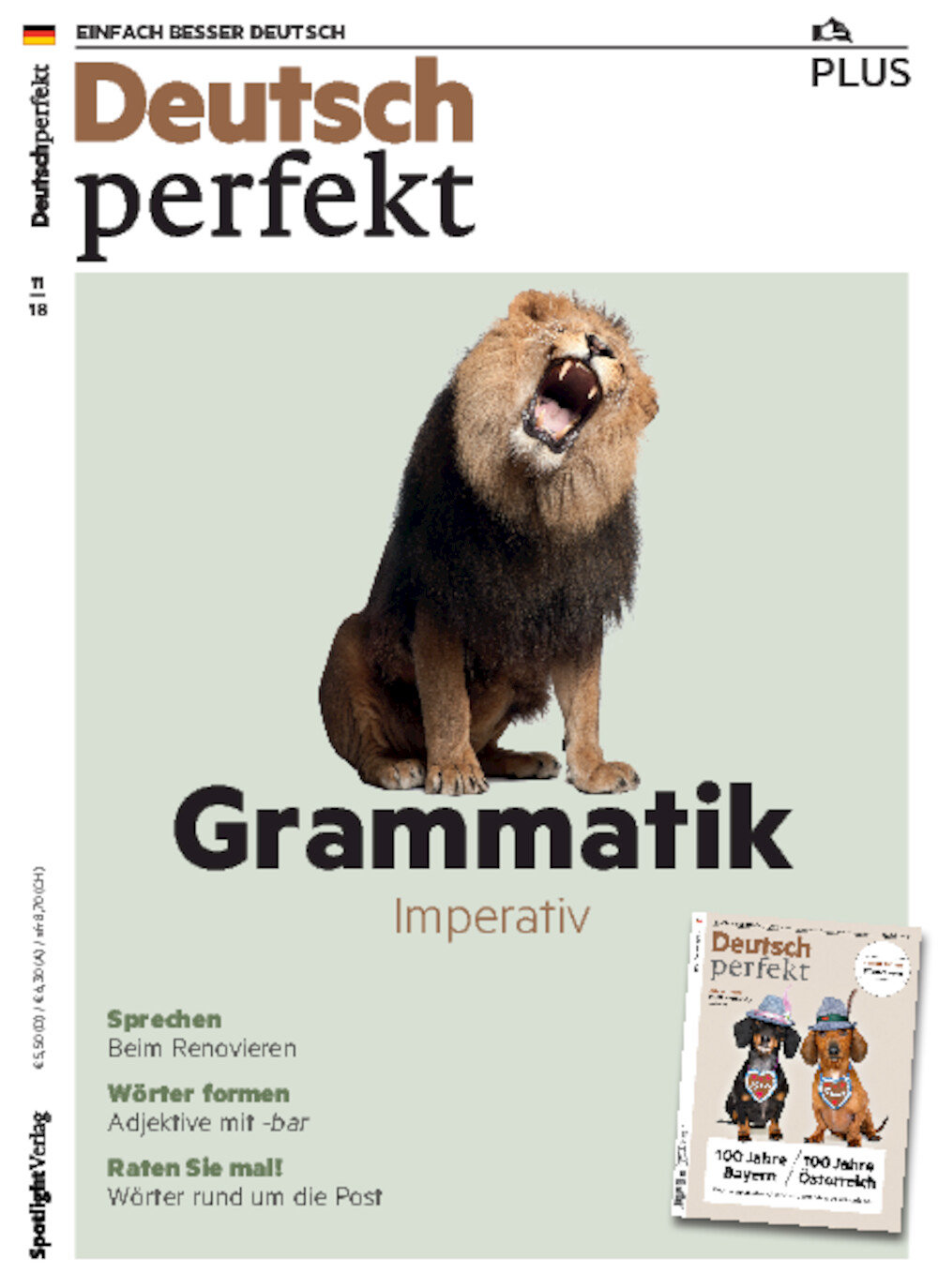 Deutsch perfekt PLUS ePaper 11/2018